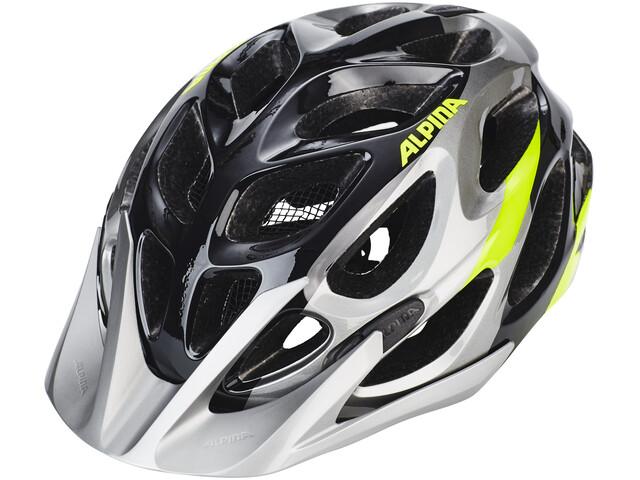 Alpina Mythos 2.0 Helmet black-darksilver-neon